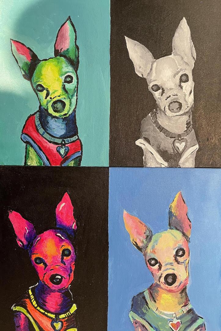 Anahi Ramos Beltran, Des Moines, 11th grade, Art Teacher: Lindsay Dew.