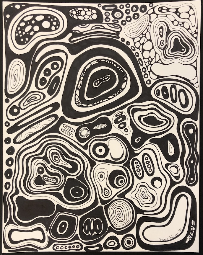 Sophia Johnson, Ogden, Art Teacher: Kara Kruse, 12th grade.