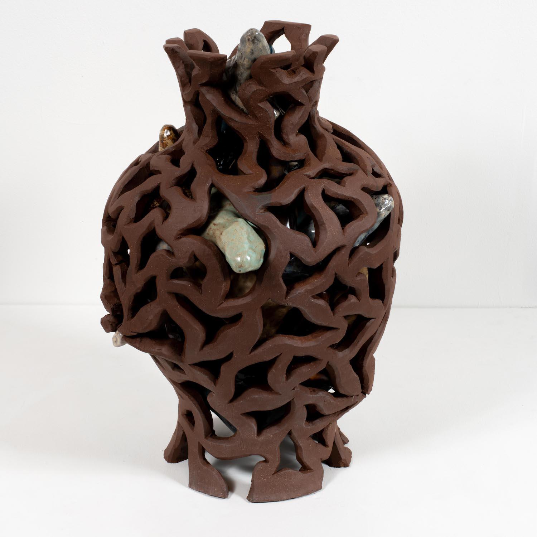vase shape containing many cutouts