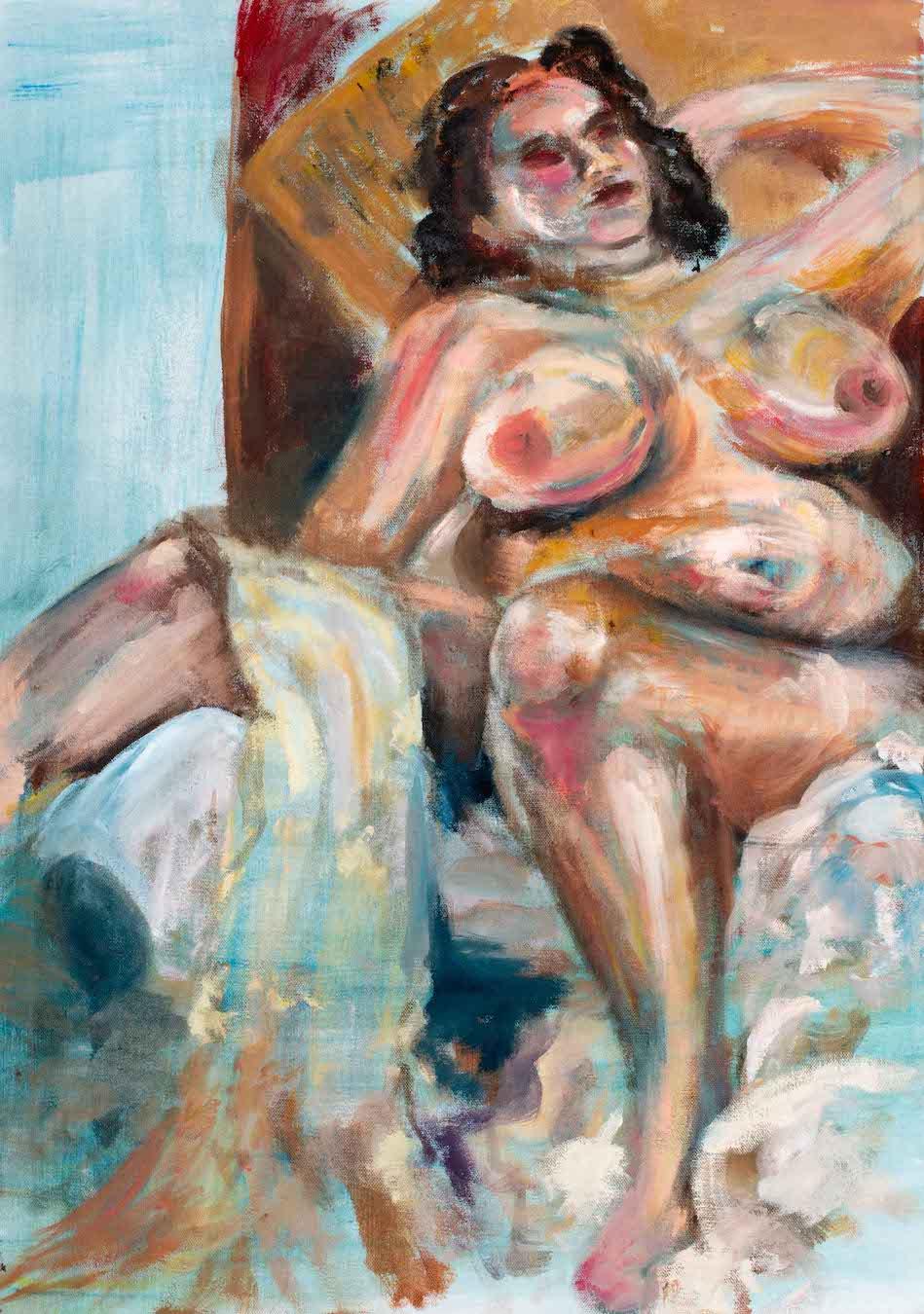 naked female lounging