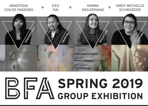 B.F.A. Group Exhibition postcard