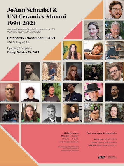 Poster for the JoAnn Schnabel Ceramics Alumni Exhibition, 2021