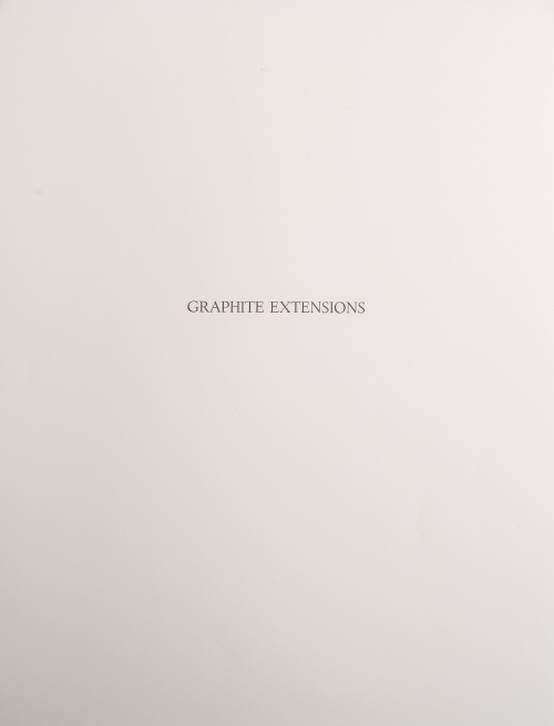 """Title page has the words """"Graphite Extension"""" above center."""