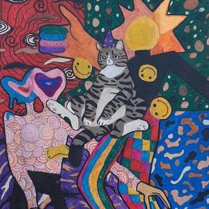 Miracle Rosener, Maquoketa, 10th grade, Art Teacher: Zeena Zumwalt.
